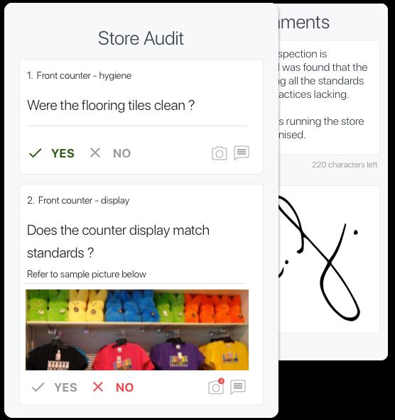 store audit checklist