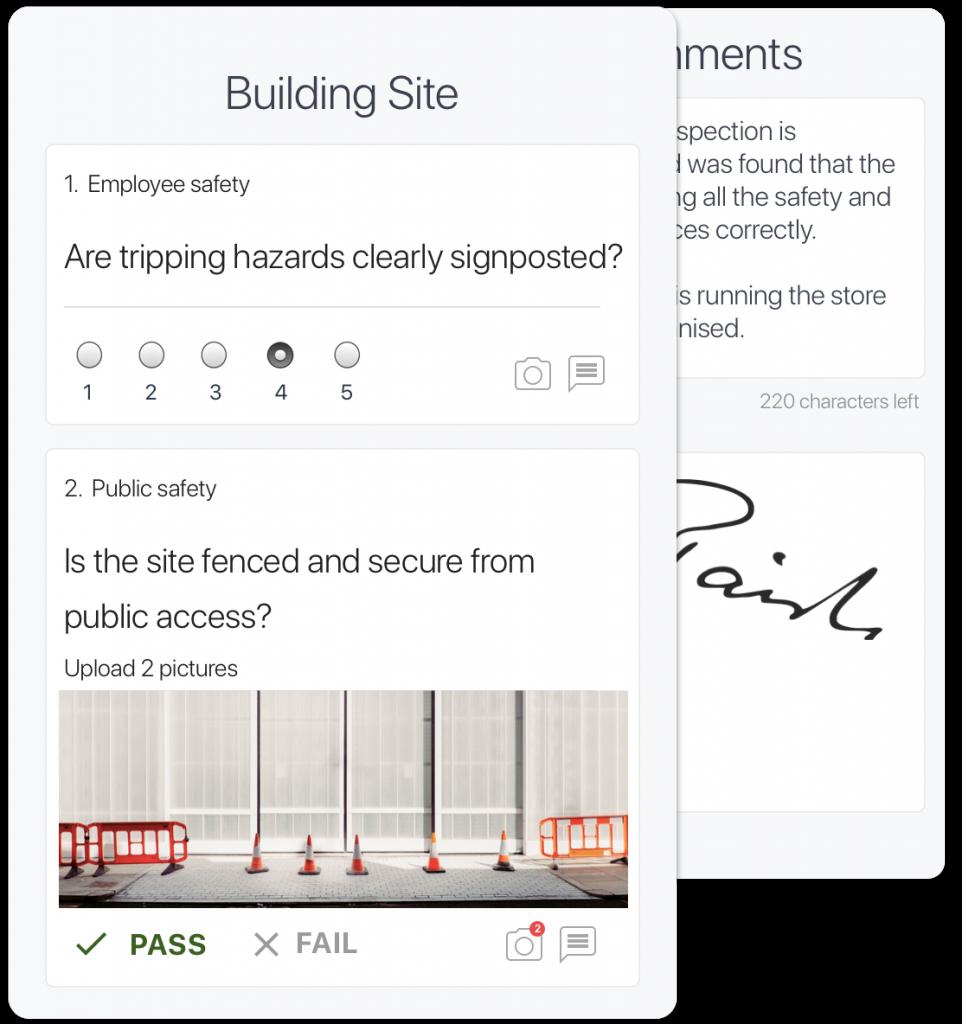 building site inspection app
