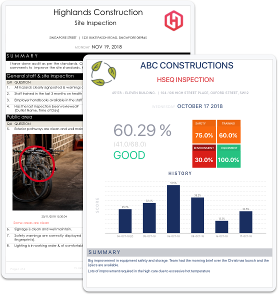 Reports construction