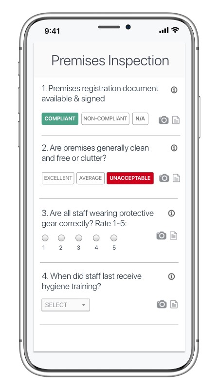 setting up checklist on app