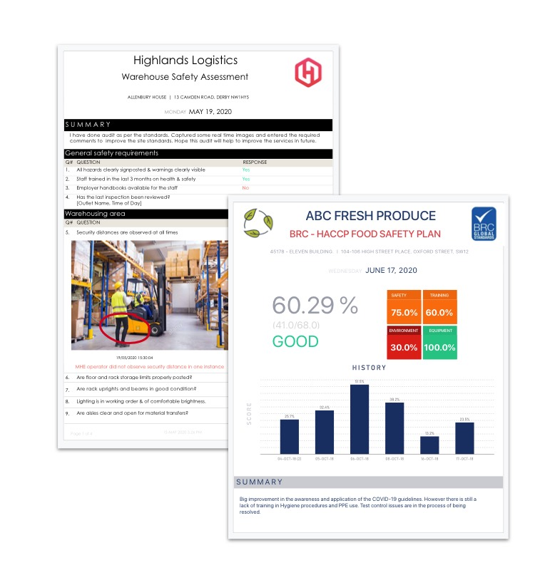 automatic inspection reports