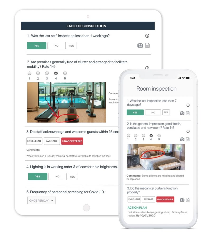 hotel quality assurance app