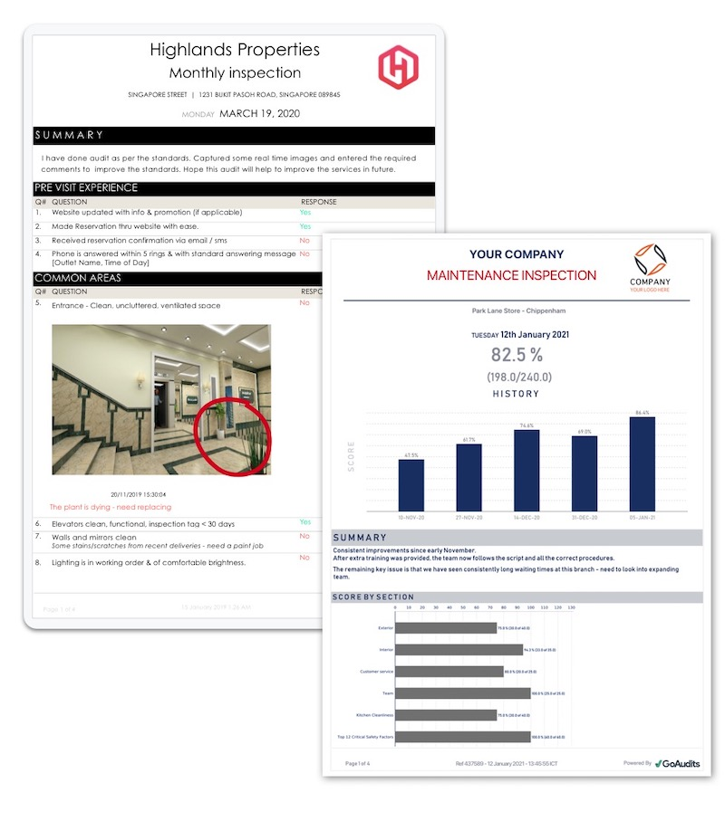 property inspection software reports